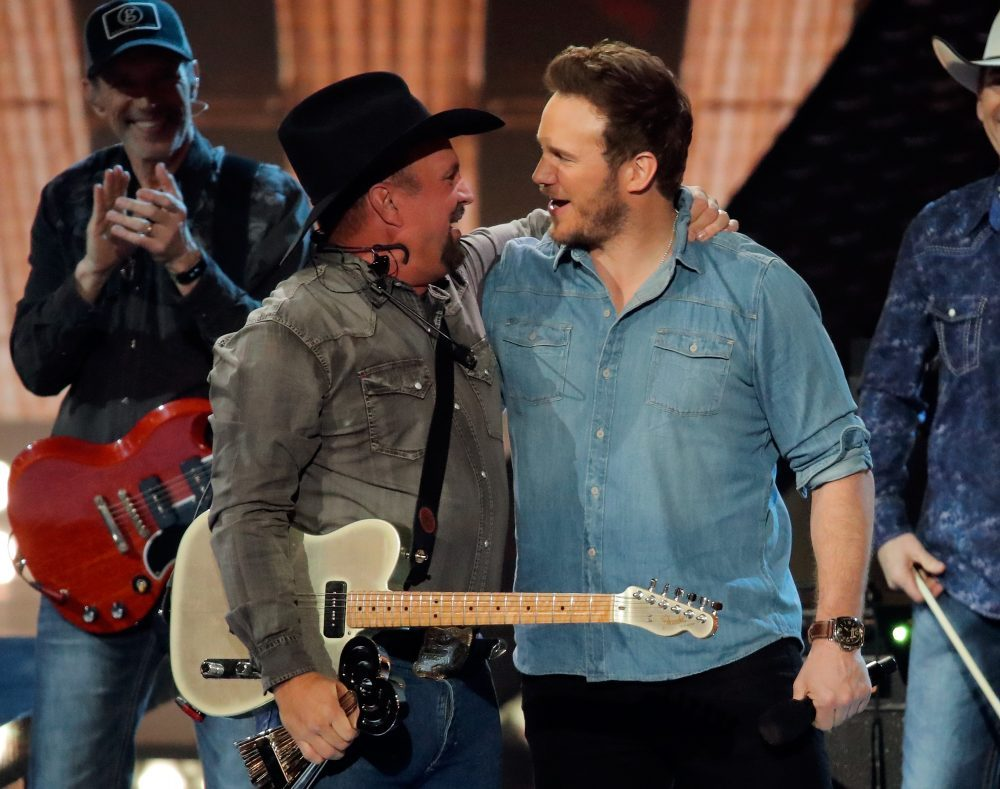 Garth Brooks and Chris PrattiHeartRadio Music Awards, Show, Microsoft Theater, Los Angeles, USA - 14 Mar 2019