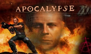 The Apocalypse title screen – the only part of the game where Bruce Willis is in anyway recognisable