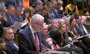 Jeremy Corbyn responds to Theresa May in the House of Commons.