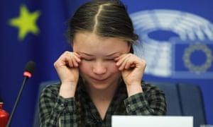 Greta Thunberg speaks to MEPs in Strasbourg