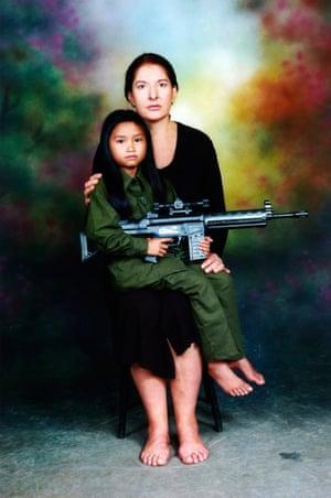 Marina Abramovic? with a Laos child.