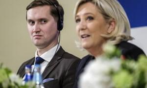 Jaak Madison of EKRE and Marine Le Pen.