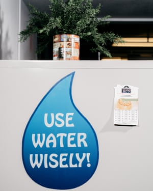 A sign in the Security water district office in Colorado Springs, CO.