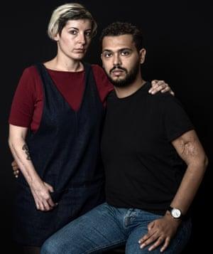 Chloé De Bacco (31) and Mahdi Zaidi (32) Survivor of terror attacks in Bataclan (Chloe) and survivor of terror attacks at Le Carillon (Mahdi). They met in rehabilitation and are a couple now. Paris, France