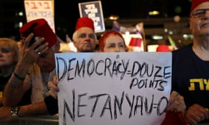 Israelis protesting in Tel Aviv on Saturday against legislation that could exempt Netanyahu from prosecution