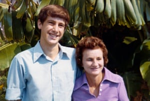 John Cruthers with his mother and Sheila in 1974.