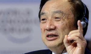 A 2015 image of Huawei founder Ren Zhengfei.