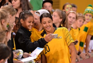 Sam Kerr and a fan