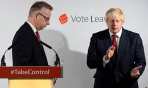 Johnson and Michael Gove at a press conference after EU referendum result in June 2016