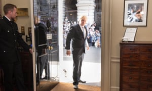 Boris Johnson enters No 10 as PM