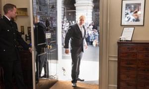 Boris Johnson enters No 10 as PM