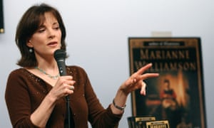 Williamson speaks at a book signing in San Francisco in 2002.