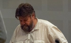 Carl Beech at an extradition hearing in Sweden