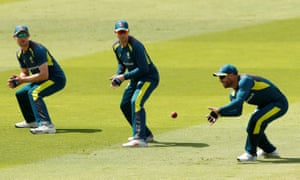 Australia's Cameron Bancroft, Steve Smith and David Warner prepare for Thursday's first Ashes Test against England.