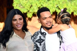 Chance the Rapper with his wife Kirsten Corley and daughter Kensli.