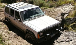 Police found Gregory Randolph's jeep miles from the nearest paved road. His second dog had stayed with the car while Randolph walked to find help.