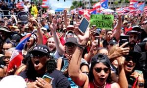 Anti-Rosselló protests in San Juan, Puerto Rico
