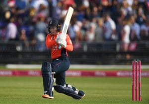 Tammy Beaumont of England gets off the mark.