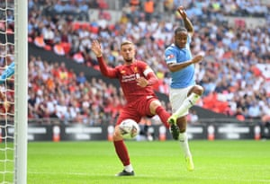 Sterling scores the opener for City.