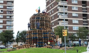 The bonfire before it was set alight.