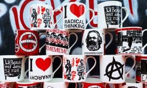 Activist mugs at Stokes Croft pottery