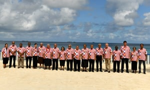 Leaders at the Pacific Islands Forum.