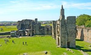 Warkworth Castle, Northumberland, UK.