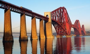 The Forth Bridge on a clear day