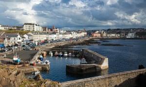 Portstewart harbour and promenade, Northern Ireland, UK.