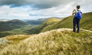 Picture perfect: near Patterdale, Cumbria, on the Coast to Coast.
