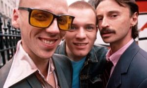 Ewen Bremner, Ewan McGregor and Robert Carlyle in 1995's Trainspotting.