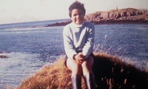 'I used to not feel at home' … Kay as a child in Scotland.