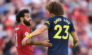 'They never stop,' said David Luiz (right) of Saturday's opponents.