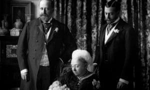 Queen Victoria's grandson George (right) changed his surname to the Windsor during the first world war