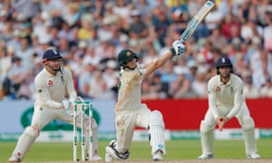 Steve Smith hits a brutal six ion the way to his 24th test century.