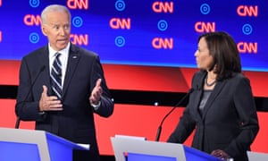 Democratic presidential hopefuls Joe Biden and Kamala Harris.