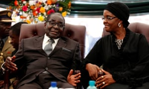 Robert and Grace Mugabe. The former president's second wife remains a controversial figure in Zimbabwe.