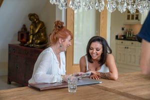 Jesy Nelson with Liz Richie in the forthcoming BBC documentary Odd One Out.