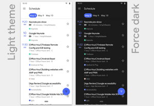 Android 10 finally includes a system-wide dark theme.