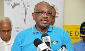 Hubert Minnis, the prime minister of the Bahamas, has spoken of the devastation from Hurricane Dorian.