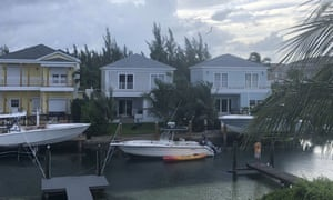Boats are seen tied up in preparation for the approach of Hurricane Dorian in Nassau, Bahamas.