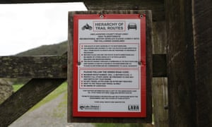One of the LDNPA's 'hierarchy of trails' signs