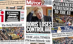 Front pages of the UK papers today