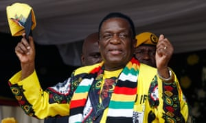 President Emmerson Mnangagwa, at a rally in Murombedzi, a town in the Mashonaland West province of Zimbabwe, in November 2018.